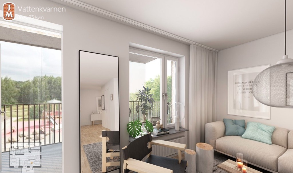 Swedish property developer JM now offers virtual tours of apartments before they're even built.
