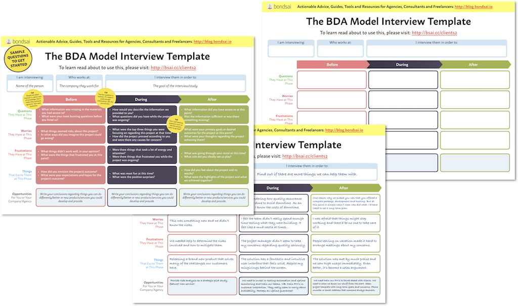 BDA Model Worksheets