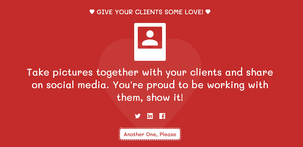 client.love: Client Happiness Idea Generator