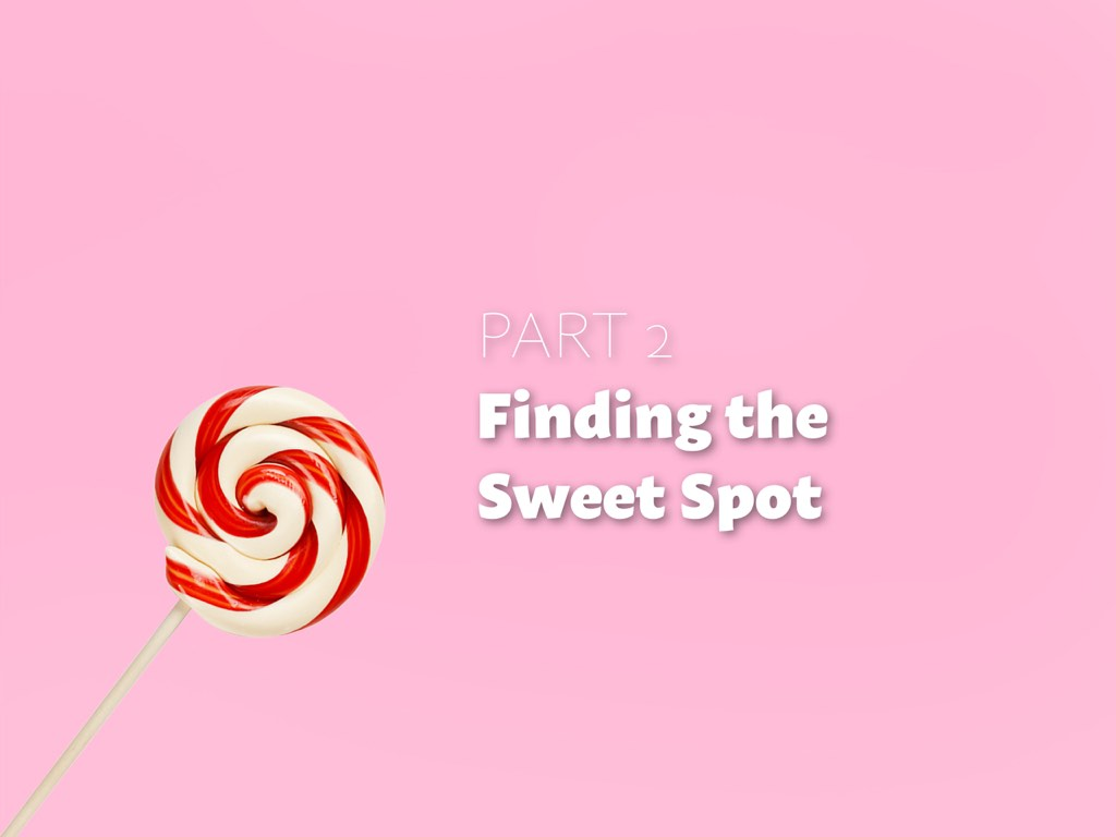 The sweet spot is where your interest overlaps with your readers' needs.