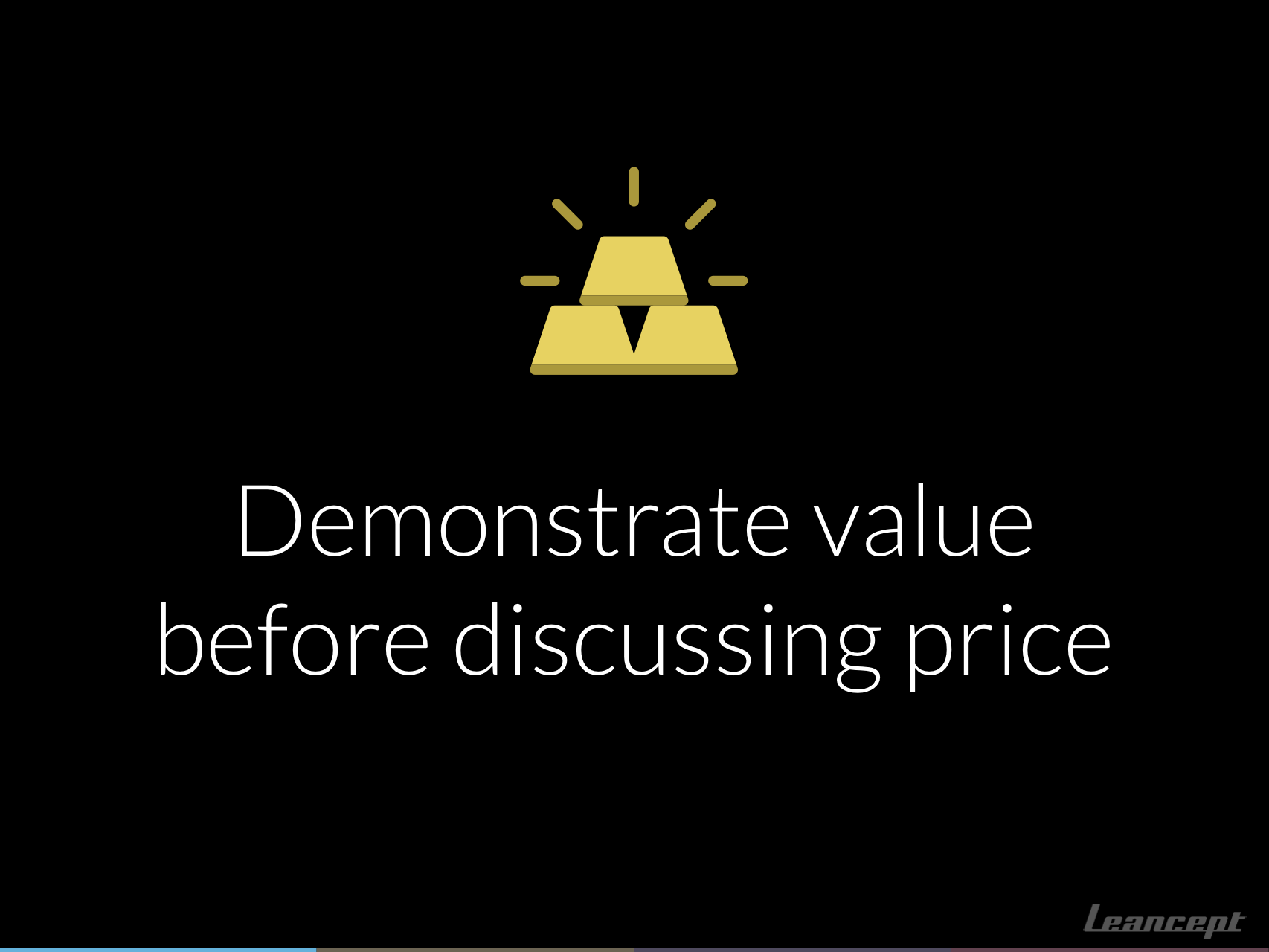 Demonstrate value before discussing price.