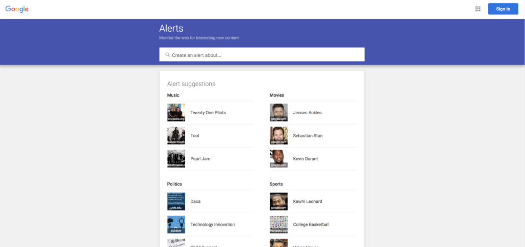 Google Alerts is great for helping you stay informed about new content and news that affect your help and helps you boost your client proactivity.