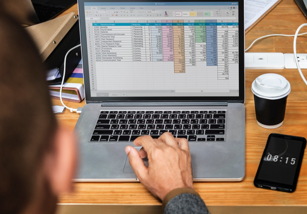 A spreadsheet can provide a valuable overview of your clients and help inform your decisions.