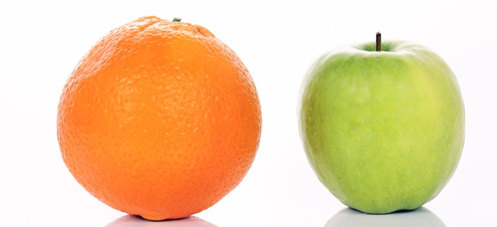 You might be apples and oranges but the buyer may not see it that way.
