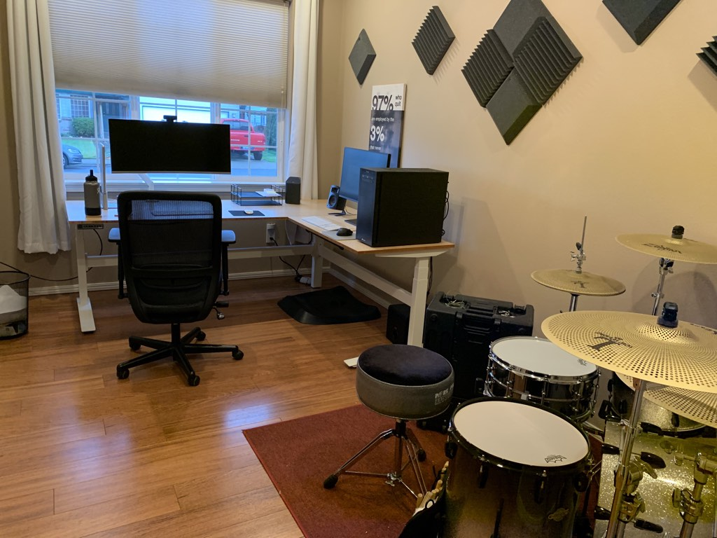 A typical virtual agency office. Plus drums.
