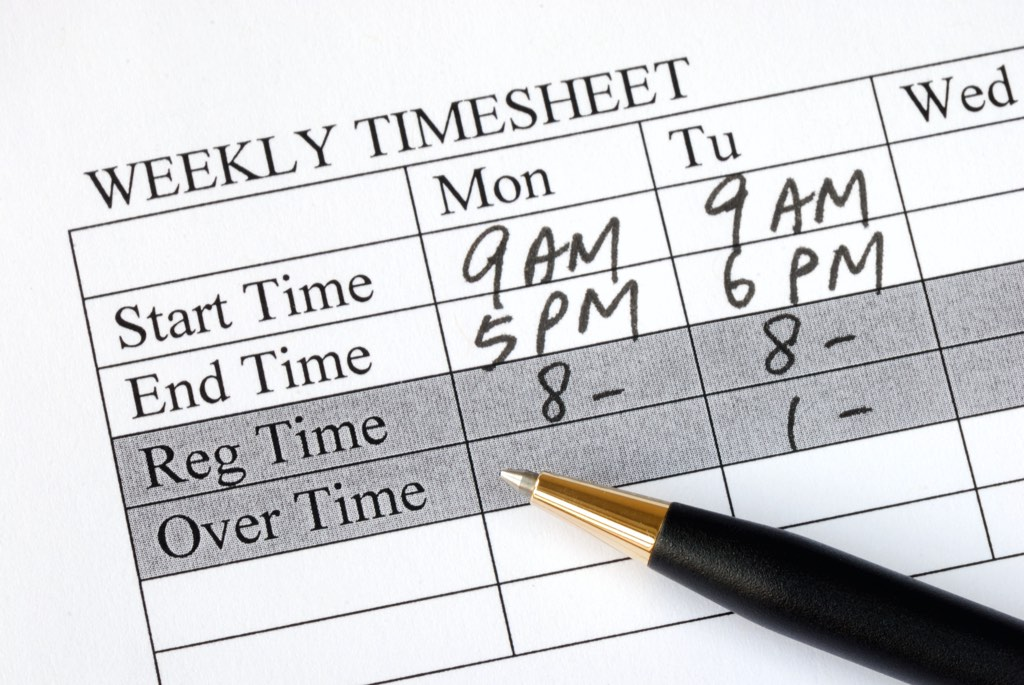 Hourly pricing and billing often only require a simple timesheet.
